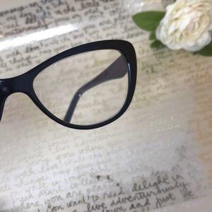 Betsey Johnson Accessories - Betsey Johnson Black Reading Glasses -readers